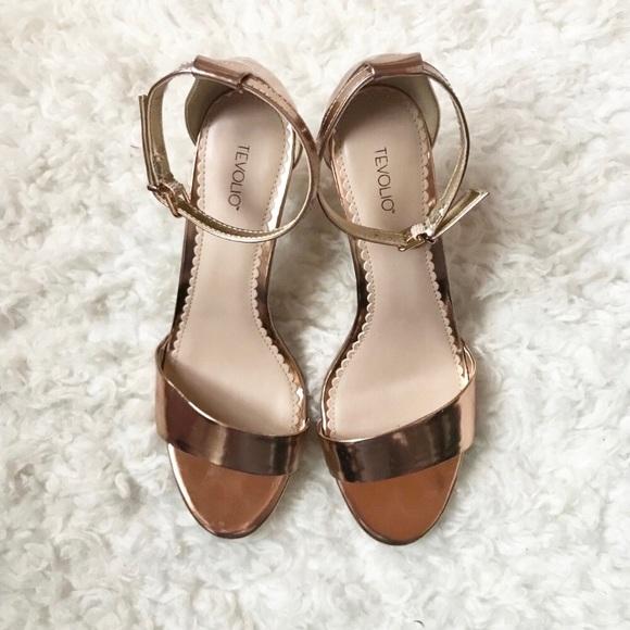 Target Rose Gold Ankle Strap Heels